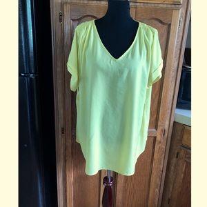 Lane Bryant Yellow Blouse Top Size 18/20